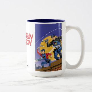 Capitán Action Classic Taza De Café De Dos Colores