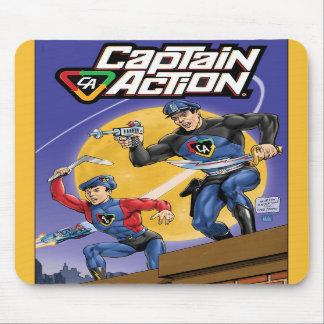 Capitán Action Mousepad Alfombrillas De Raton