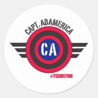 Capitán Adamerica Round Sticker Pegatina Redonda
