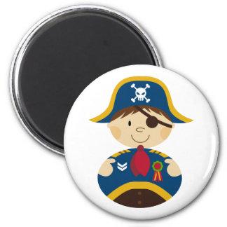 Capitán adorable Magnet del pirata Imán Redondo 5 Cm