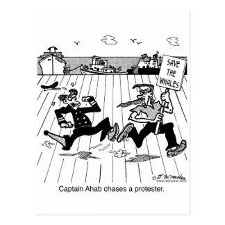 Capitán Ahab persigue a un manifestante Tarjeta Postal
