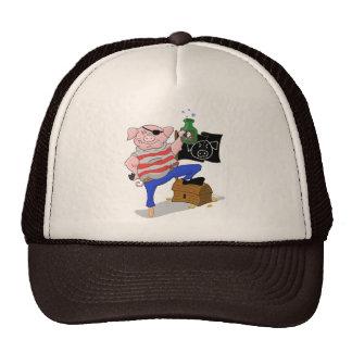Capitán Aham Hat del pirata del cerdo Gorro De Camionero