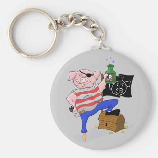 Capitán Aham Keychain del pirata del cerdo Llaveros Personalizados