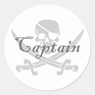 Capitán alegre de Rogelio Pegatina Redonda