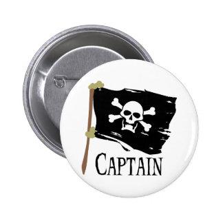 Capitán alegre de Rogelio Pin Redondo De 2 Pulgadas