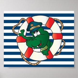 Capitán Alligator de la diversión Póster