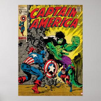 Capitán América #110 cómico Póster