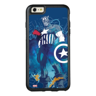 Capitán América Funda Otterbox Para iPhone 6/6s Plus