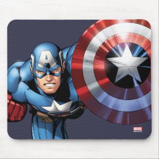 Capitán América monta Tapete De Ratón