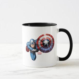 Capitán América monta Taza