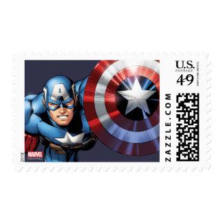 Capitán América monta Timbre Postal