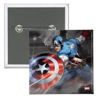 Capitán América que desvía ataque Pin Cuadrado
