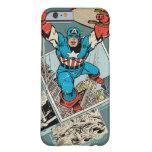 Capitán América que salta de cómico Funda De iPhone 6 Barely There