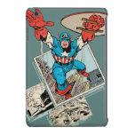 Capitán América que salta de cómico Fundas De iPad Mini Retina