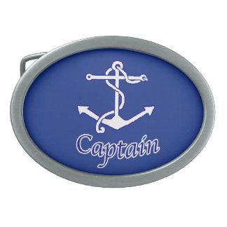 Capitán Anchor Buckle Hebilla De Cinturon Oval