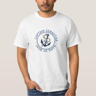 Capitán Anchor y cuerda personalizadas Remera