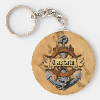 Capitán Anchor y rueda Llaveros Personalizados
