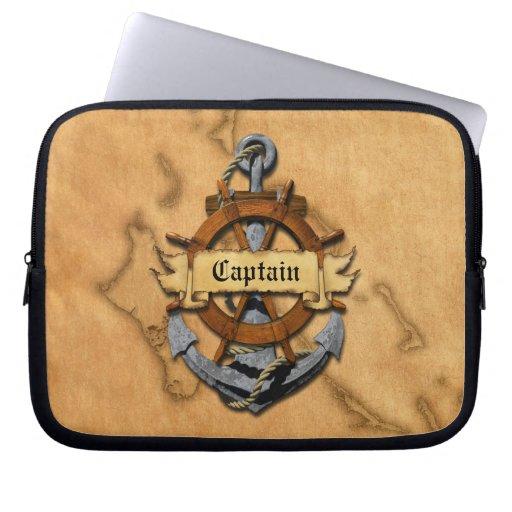Capitán Anchor y rueda Mangas Computadora