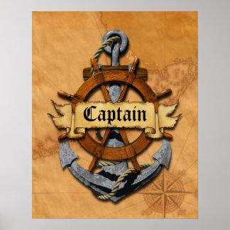 Capitán Anchor y rueda Impresiones