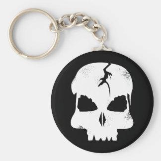 Capitán áspero Jacks Keychain del cráneo Llavero Redondo Tipo Pin