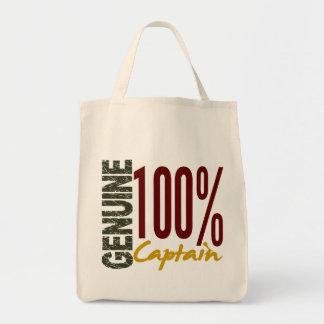 Capitán auténtico bolsa tela para la compra