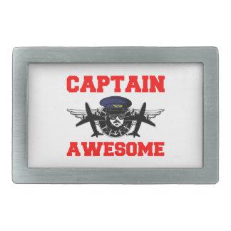 Capitán Awesome Hebilla De Cinturón Rectangular