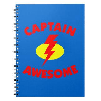 Capitán Awesome Libros De Apuntes