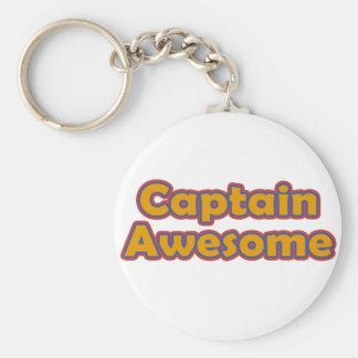 Capitán Awesome Llavero Redondo Tipo Pin