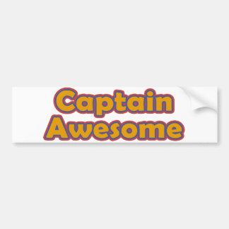 Capitán Awesome Pegatina Para Auto