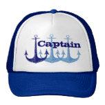 Capitán azul del ancla, muchacho personalizado gorra