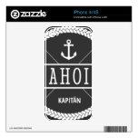 Capitán Badge de Ahoi con el ancla iPhone 4S Skin