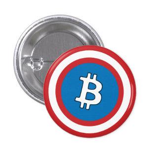 Capitán Bitcoin Badge Pin Redondo 2,5 Cm