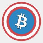 Capitán Bitcoin Sticker Pegatina