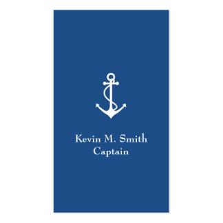 Capitán Blue del barco de la carta y ancla del Tarjetas De Visita