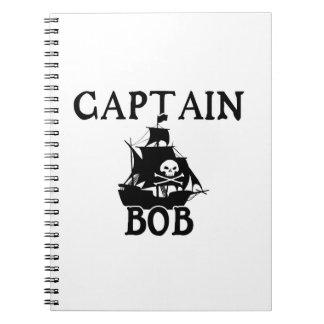 Capitán Bob (barco pirata) Spiral Notebook