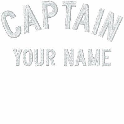 Capitán bordado personalizado Template Sudadera Con Capucha