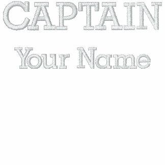 Capitán bordado personalizado Template Camiseta Polo