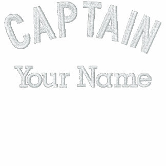 Capitán bordado personalizado Template Camiseta Polo Bordada