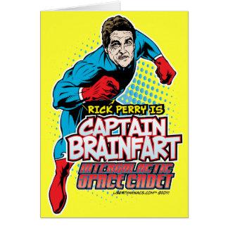 Capitán Brainfart Card de Rick Perry Tarjeta De Felicitación