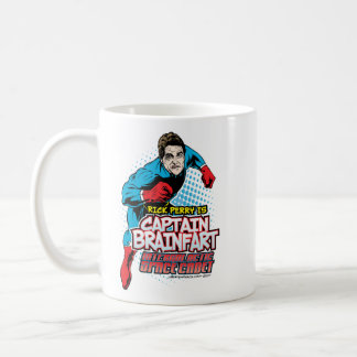 Capitán Brainfart Mug de Rick Perry Taza De Café