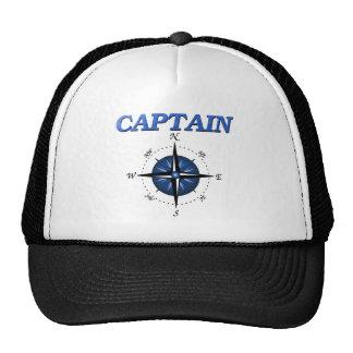 Capitán con el rosa de compás azul gorros