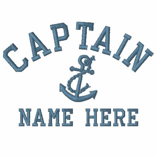 Capitán - con personalizable del ancla polo bordado