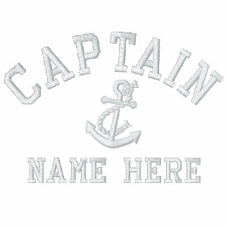 Capitán - con personalizable del ancla camiseta polo bordada