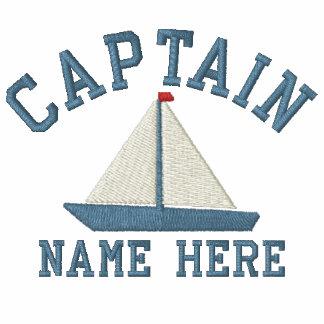 Capitán - con personalizable del yate camiseta polo
