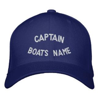 Capitán con su nombre de los barcos gorra de beisbol