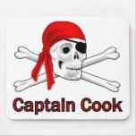 Capitán Cook Mousepad del pirata Tapetes De Ratón