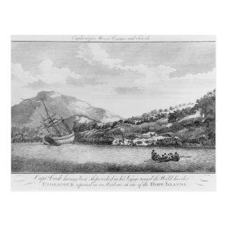 Capitán Cook que es naufragado Tarjetas Postales