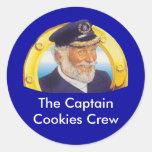 Capitán Cookies Stickers Pegatina Redonda