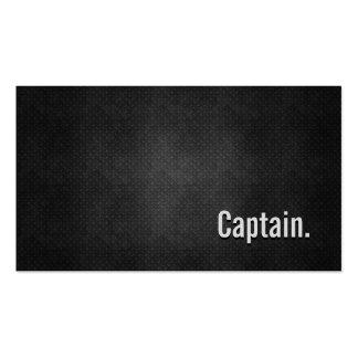 Capitán Cool Black Metal Simplicity Tarjetas De Visita