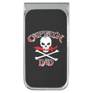 Capitán Dad Money Clip Clip Para Billetes Plateado